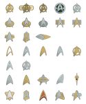 Starfleet Combadges and Insignias by Rekkert