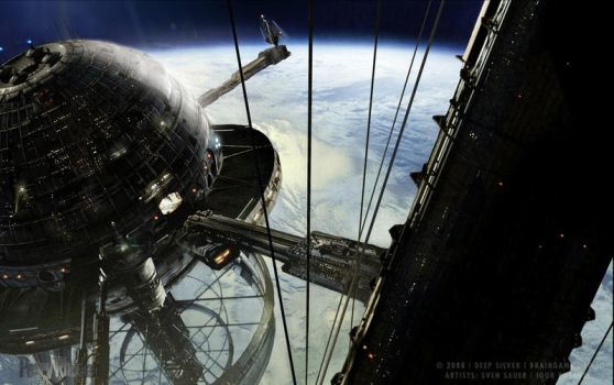 Matte_Painting_Spaceport by sven-sauer