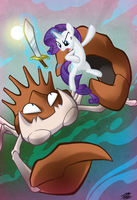 Rarity Gets A Little Crabby by WillDrawForFood1