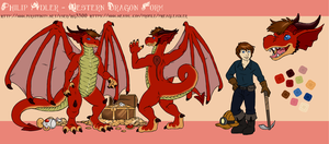 Philip Adler - Western Dragon Form [Reference] by Pheagle-Adler