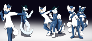 Anthro Meowstic Latex Goo TF by Avianine