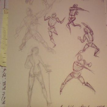Gesture Drawing Practice - 01 by LizzVisions