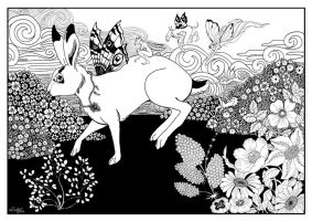 The hare tormented by pixies by aeryael
