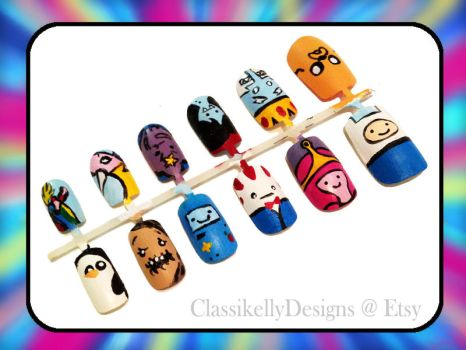 Adventure Time Nail Art by Classikelly