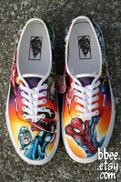 Marvel Comic Shoes by BBEEshoes