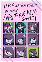 Draw yourself in your friend's art style ! by 0Darky0