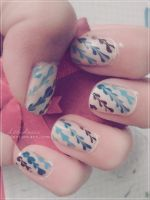 Cute nailart by LittleAndzia