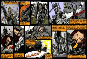 Lord of the Rings: fall of Sauron by mrinal-rai