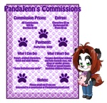 Pandajenn Commission Menu By Kiss The Iconist-dcmo by Panda-Jenn