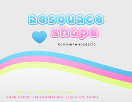 Custom Shape wave. Zip download by Romina-panquesito
