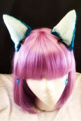 I'm all ears!  Turquoise velvet by cupcakedoll