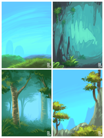 Aim game backgrounds by griffsnuff