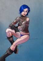 'Blue' pin up by FooRay