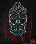 Greaser Skull on Black by someofthathomegrown