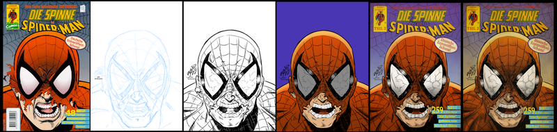 Spider-Man Die Spinne Retro Cover Part 2 WiP by BouncieD