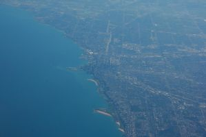 Chicago as seen from a plane by Dr-J-Zoidberg