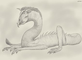 Tog the Loathsome Wyrm by Zhombah