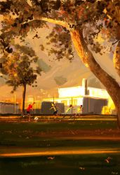 Soccer in the park. by PascalCampion