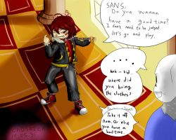 undertale : frisk in judgementhall by ch0702ch