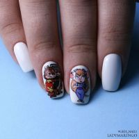 Chip and Dale nails by ladymarengo