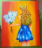 Experiment with acrylic by Haalaesc