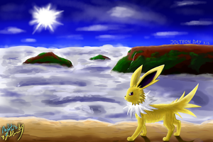 Jolteon's Day 2018 - Above the Mountains by KenTEEani