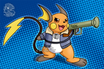 [Commission] Rocket Raichu by Veemonsito