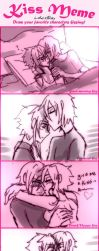 Kissing meme for luke x Ray by AK-47x