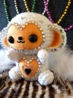 New Year's Monkey Amigurumi by cuteamigurumi