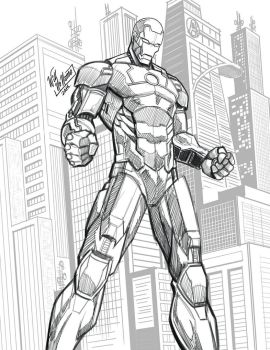 Ironman Sketch by WillNoName
