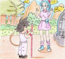 Dragon Ball  Dragoon88 FanArt 1 Bulma e Goku by Dragoon88-DragonDao