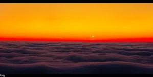 Sunrise above the clouds 4 by rubim88