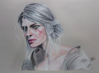 The Witcher 3 : Ciri Drawing by JakubQaazAdamski