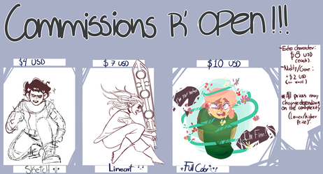 Commission sheet prices by BUSHonDRUGS