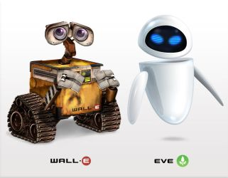 Wall-E and EVE Icons by Flarup