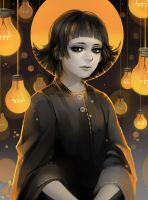 lightbulbs by Harumagai