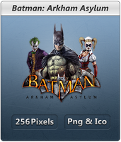 Batman Arkham Asylum - Icon by Crussong