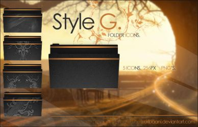 Style G - Folder icons. by Uribaani