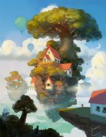 House on an island by k-atrina