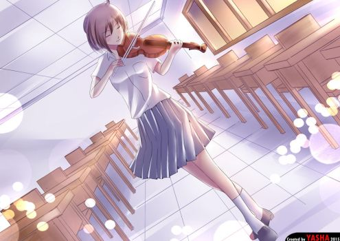 violin by worldofyasha