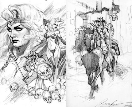 Lady Death roughs by felipemassafera