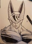 CELL from dragon ball traditional commission by marvelmania