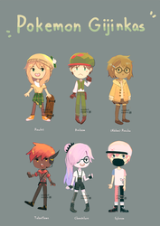 Pokemon Gijinka Adopts (closed) by spaded-square