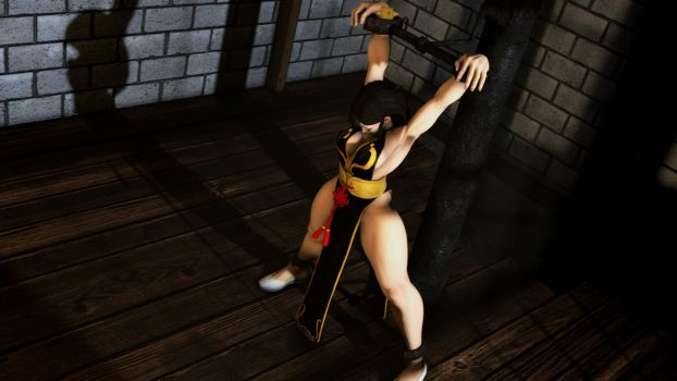 Chun Li Restrained by Tommy-TheDirtDen