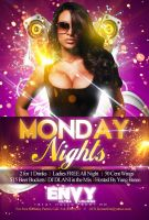 Monday Nights at Envy Flyer by Numbaz
