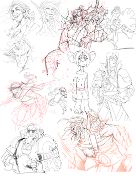 sketchdump0006 by guild-snail