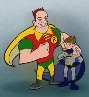 Brody Shawn to Batman Robin by cgianelloni