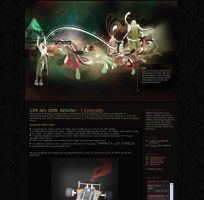 Blog in Space layout by twentyhours
