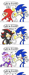 How Sonic Makes Friends by silveramysaurus07