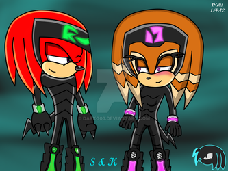 Knux and Shade in Matching Outfits by DarkG03